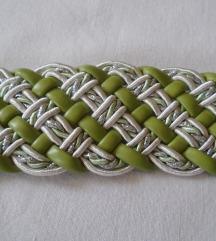 sada 300 Dva pletena kaiša sa svetlucavim nitima