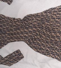 Fendi logo maksi duga haljina