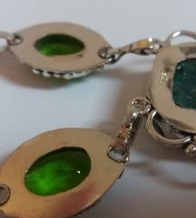 Solarni kvarc i peridot ogrlica u srebru