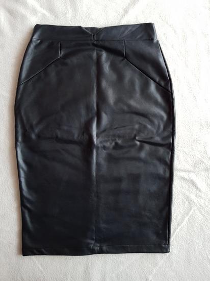 Crna kozna suknja NOVO!