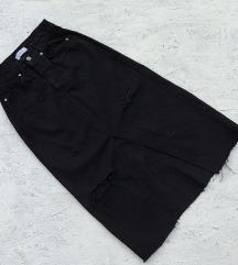 Novo! Crna teksas suknja