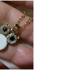 Kristalna sovica ogrlica