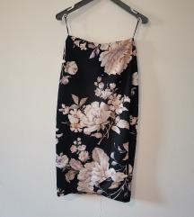 New Look cvetna pencil suknja na preklop 🌺