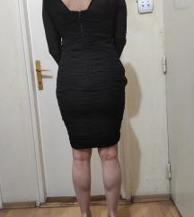 Crna koktel haljina sa naborima, Orsay,Novo