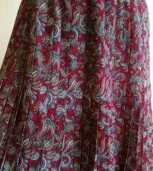 Vtg Plisirana Suknja sa Paisley Motivom
