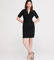 Reserved crna haljina sa kaisem, vel. XS