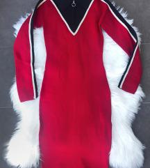 Knit bodycon haljina sa kragnom NOVA sa et.