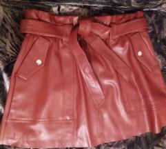ZARA faux leather suknjica