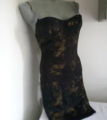 Crno braon korset haljina S