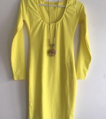 Žuta haljinica sa elastinom