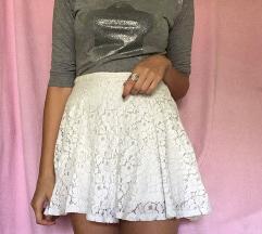 Bela suknja čipka SNIZENJE 400