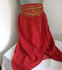Women secret crveno sarena suknja M