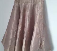 Suknja sampanjac boja