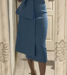 Asos midi plava svecana haljina