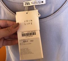 Zara majica sa američkim izrezom, etiketa