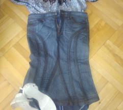 Rocco Barocco teksas suknja i bluza