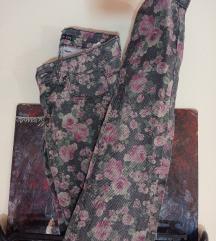 Terranova floral skinny pantalone