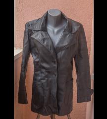 Crni kožni mantil, sedamdesete S/M