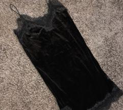 Čipka/pliš haljina