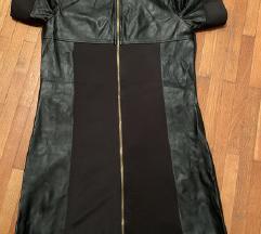 Kvalitetna crna haljina sa zipovima