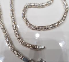Srebrni lanac 35,4g KRALJEVSKI RAD 925