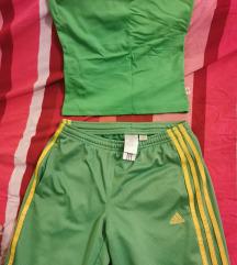 Adidas trenerka i zeleni top