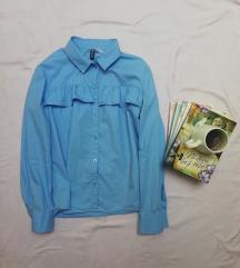 H&M nebo plava kosulja sa karnerima S/M