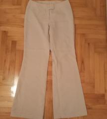 Krem poslovne pantalone