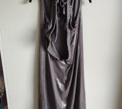 Siva svečana haljina