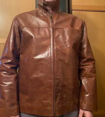 Nova muška braon kožna jakna