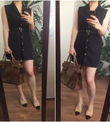 Lanena sako-prsluk haljina