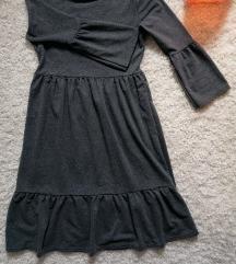 Tamno siva karner haljina