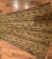 Zara kožna plisirana suknja XS