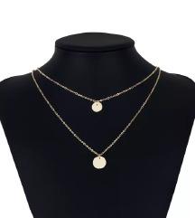 Zlatna ogrlica medaljoni
