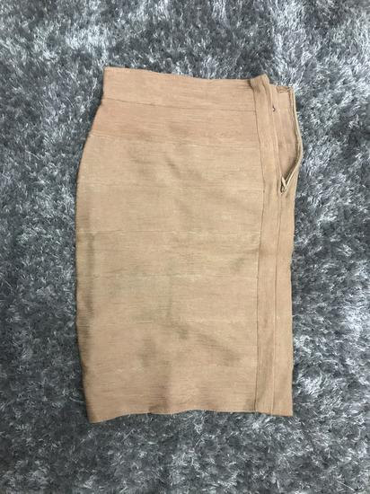 Zlatno krem Herve Leger suknja