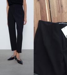 Zara novo crop pantalone hi-rise vel.42