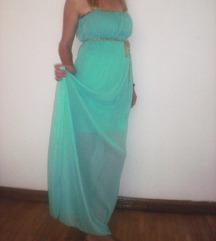 Duga zelena haljina S/M