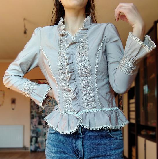 Nezno siva/srebrnkasta bluza