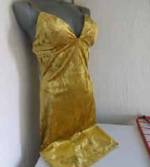 Nova plisana zuta haljina S/M