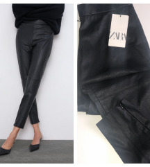 Zara faux leather leggings NOVO