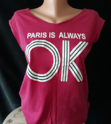 BERSHKA roze majica bez rukava vel S