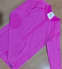 Slim sportska bluza za trening roze