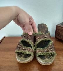 Boho papuce KOZNE