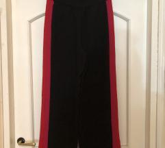 NENOSENE crna pantalone sa straftom