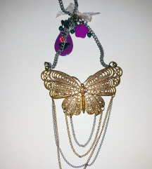 Zara Accessories leptir ogrlica