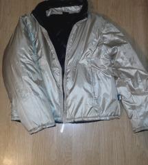 Nova CRACKER jakna sa dva lica, zlatna - crna.