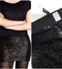 *SALE* NOVA H&M crna sequin suknja sa etiketom