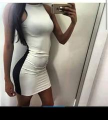 Letnja haljinica crno-bela