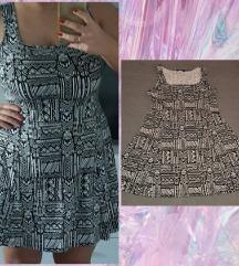 LC WAIKIKI haljina crno bela
