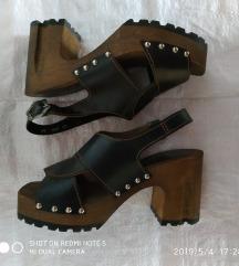Sandale koža drvo KOPITARNA 38
